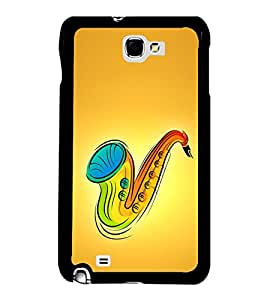 Printvisa Ultra Colourful Saxophone 2D Hard Polycarbonate Designer Back Case Cover for Samsun...