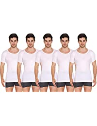 VIP Supreme Men's Half Sleeve Cotton Vest (Pack of 5)