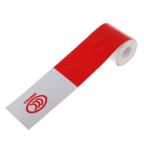 3M Reflective Safety Warning Conspicuity Tape Film Sticker for Truck, Red/White