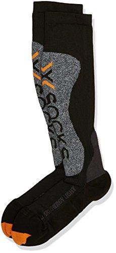 X-Socks Funktionssocken Ski Energizer Light, Black Melange, 42/44, X020428 (Smart Sock Compression)