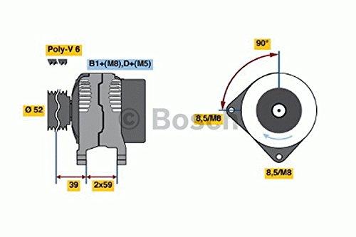 Bosch 0 124 515 087 Alternateur
