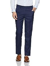 Peter England Men's Slim Fit Formal Trousers