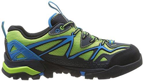 Merrell Capra Sport, Chaussures de trail homme Mehrfarbig (BLACK/LIME GREEN)