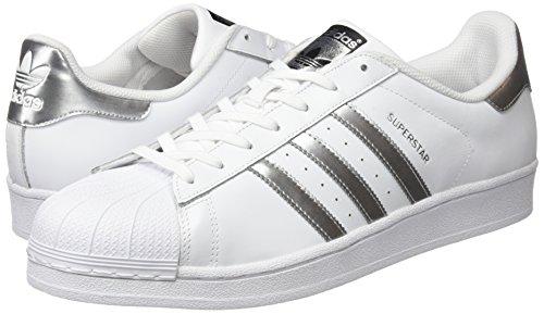 adidas Damen Superstar Sneaker, Mehrfarbig (Ftwwht/Silvmt/Cblack), 39 1/3 EU - 5