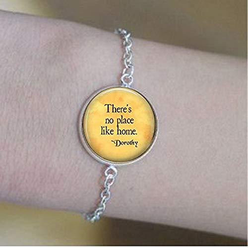 bab Schmuck-Armband mit Aufschrift Here's No Place Like Home-Wizard of Oz, Zitat von Dorothy - Rubin Slippers-Homesick, Geschenk-Armbänder, Bibel-Zitat (Dorothy Halloween Oz Of)