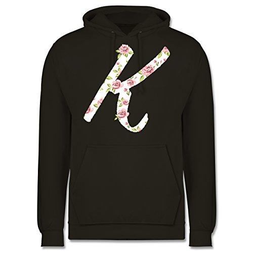 Anfangsbuchstaben - K Rosen - Männer Premium Kapuzenpullover / Hoodie Olivgrün