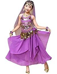 Winwintom Girls belly dance traje disfraz India Top + Falda Ropa de baile