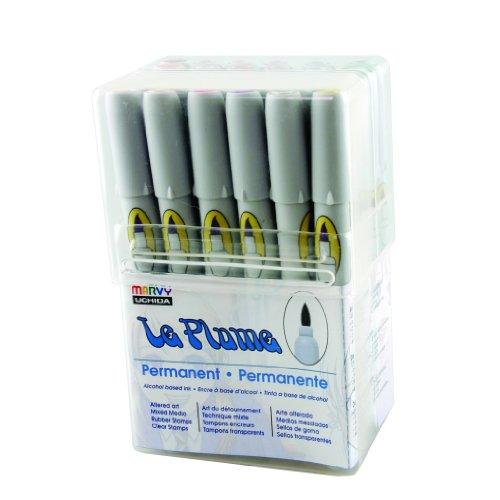 Uchida von Amerika 3000set24b 24Le Plume Permanent Tinte auf Alkoholbasis Pen Set, Pastel