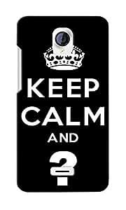 CimaCase Keep Calm Designer 3D Printed Case Cover For Micromax Unite 2 A106