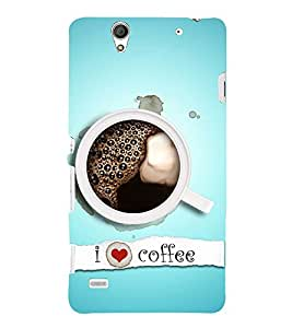 I Love Coffee 3D Hard Polycarbonate Designer Back Case Cover for Sony Xperia C4 Dual :: Sony Xperia C4 Dual E5333 E5343 E5363