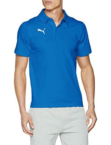 PUMA Herren Liga Casuals Polo T-Shirt, Electric Blue Lemonade White, M