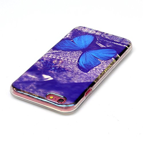 iPhone SE Hülle, iPhone 5S Hülle, iPhone 5S Case,EMAXELERS iPhone SE 5 5S Hülle Soft Slim TPU Bumper Case Soft Silikon Gel Schutzhülle,Niedlich Blumen Fairy Mädchen Serie Transparent Silikon Crystal C Butterfly Animal Blue Light TPU 10