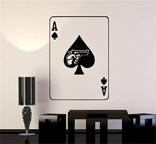 wandaufkleber baumstamm weiß Spielkarten-Poker, das Mafia-Waffen spielt (Spielkarten Waffen)