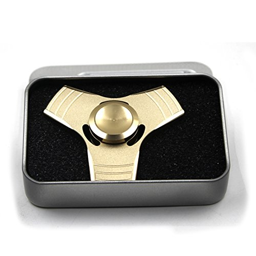 PP TOY Fidget Spinner Toy Finger Hand Cube 360 Degree Rotation Perfect For Quitting Smoking, ADD, ADHD, Anxiety, and Autism for Adults and Children (Gold) -