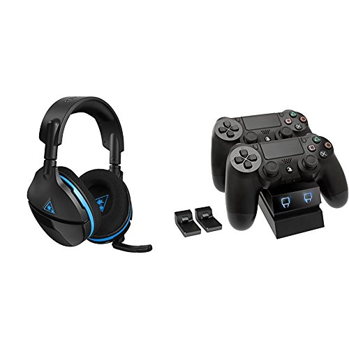 Turtle Beach Stealth 600 Cuffie da Gaming Surround + Venom Twin Charge Docking Station, PS4