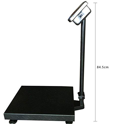 BILANCIA DIGITALE 300 KG A PIATTAFORMA ELETTRONICA DISPLAY LCD RETROILLUMINATO DIGITALE INDUSTRIALE PIEGHEVOLE *BILANCIATCS300K* - 7