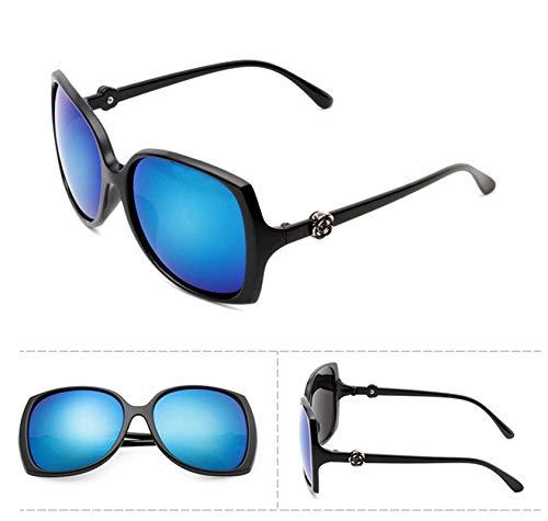 Aeici Sonnenbrille Frauen PC + Resin Fleur Rose Sur Le Cadre Sonnenbrille Schwarz Blau Sonnenbrillen