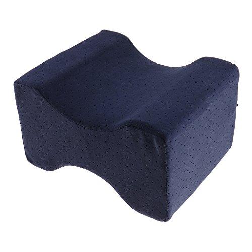 MagiDeal Beinkissen Kniekissen Memory Schaum Kissen, Antibakteriell Design, für Bein, Rücken, Hüfte, Abnehmbare Abdeckung, für Seitenschläfer komfort Schlafposition 20.5 x 25.5 x 15cm - Dunkelblau -