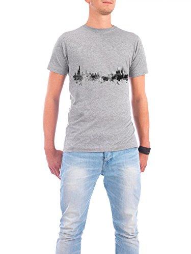 """Design T-Shirt Männer Continental Cotton """"Halmstad Sweden"""" - stylisches Shirt Städte Reise Architektur von Michael Tompsett Grau"""