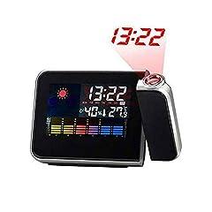 Idea Regalo - Peloo Sveglia a Proiezione Orologio con Proiezione Digitale LED Temperatura Data Non Devo Alzarmi per Vedere l'Ora