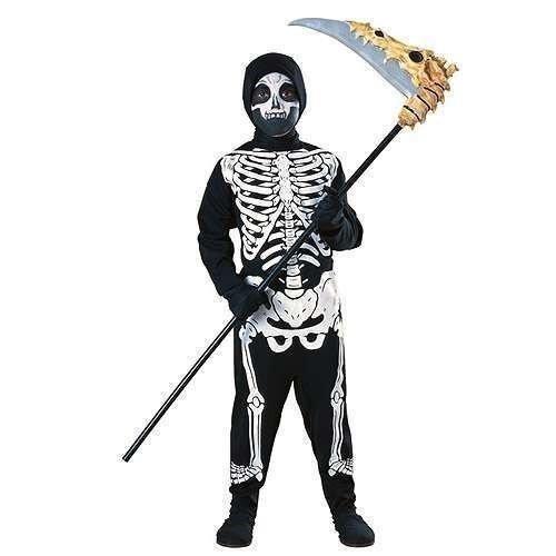 lständige Skelett Länge Overall Kostüm Kleid Outfit 3 - 10 jahre - translation, original, 8-10 Years, Schwarz/weiß (Halloween Skelett Outfit)