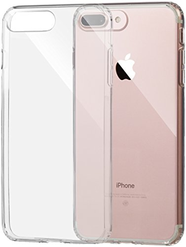 AmazonBasics Carcasa para iPhone 8 Plus / 7 Plus, Transparente