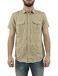 chemise manches courtes kaporal roola beige