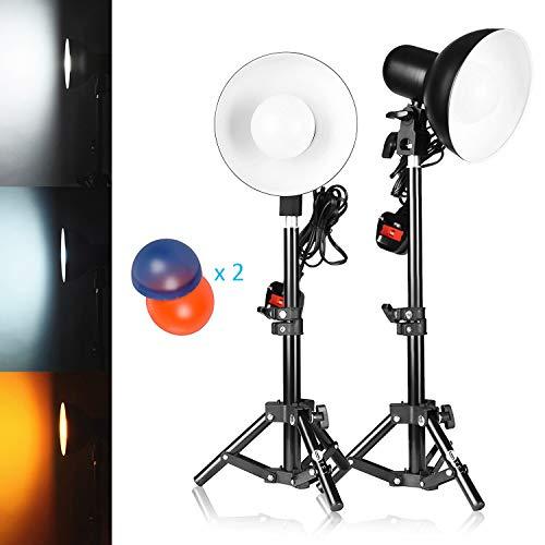 TFJ 2x 15W 30 LED Estudio de iluminación continua Mini mesa Top 5500K