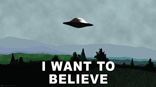 X Files I Want to Believe (25x14 inch, 62x35 cm) Silk Poster Seta Manifesto PJ16-0A79