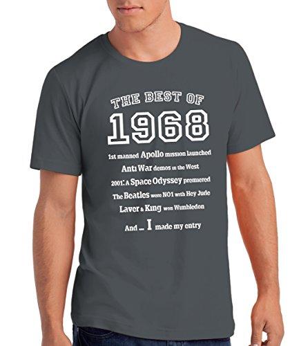 Camiseta para Hombre The Best of 1968' para Regalo de 50 Cumpleaños: Cg, M
