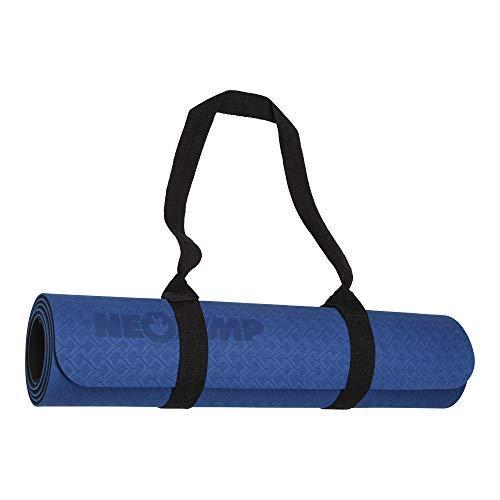NEOLYMP Premium Yogamatte mit Doppelbeschichtung, TPE, ECO Gymnastik Matte, Übungsmatten, Rutschfest, umweltfreundlich, Hypoallergen und hautfreundlich, (Blau)
