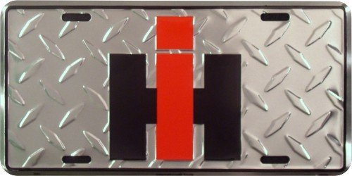 international-harvester-license-plate-diamond-plate