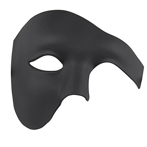 Half Face Masquerade Maske Halloween Kostüm Phantom der Oper Maske für Männer und Frauen (Kunststoff-halloween-masken)