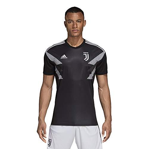 Adidas juve h preshi, t-shirt uomo, nero/bianco, m
