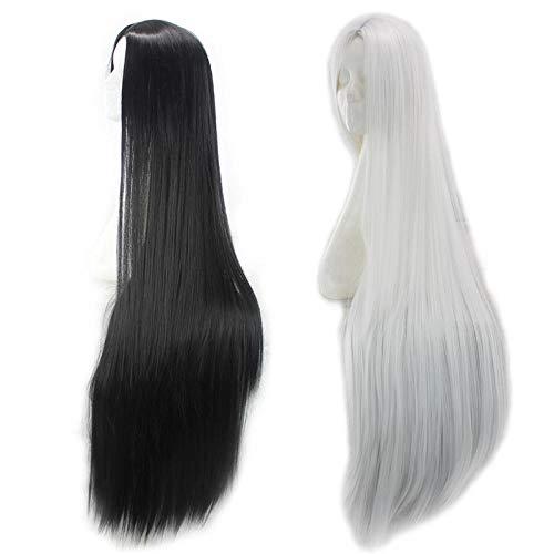 TGCYMYY Lange glatte Haare Perücke in Cosplay Perücke 100cm Silber Weiß Quecksilber Lampe cos