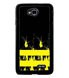 PrintDhaba Yellow Spots D-1119 Back Case Cover for LG L90 (Multi-Coloured)