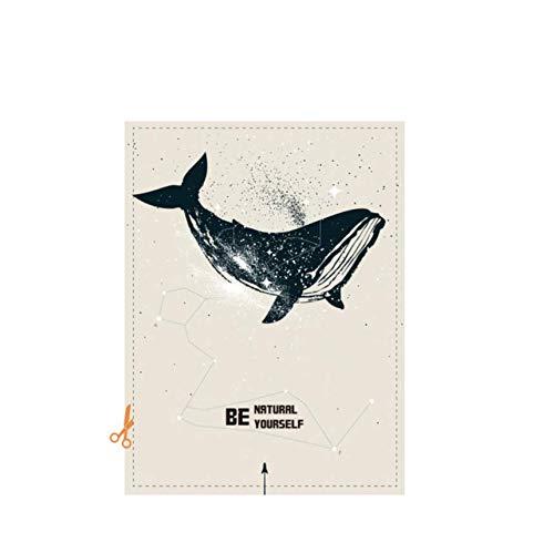 Zhyp Wall Sticker Dolphin Window Film Matt UndurchsichtigPrivatsphäre Glasmalerei AufkleberDekoration Digital90 * 120 Cm (Glasmalerei-film Für Windows)