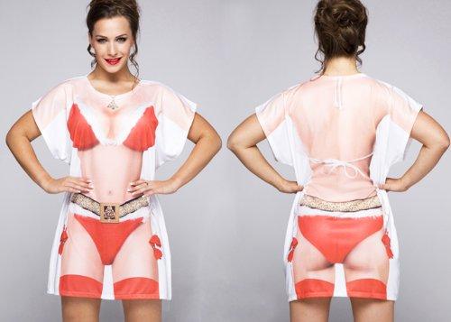 - Hen Night Shirt Nightwear Cover Up Fancy Dress Outfit (Women: 14-16, Xmas Babe) ()