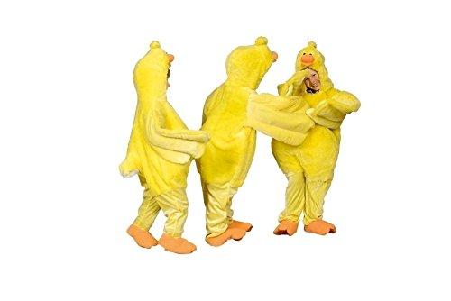 Huhn Kostüm gelb-orange für Kinder | Größe 98/104 | 1-teiliges Tierkostüm für Karneval | Hühnchen (Hühner Kostüme Baby)