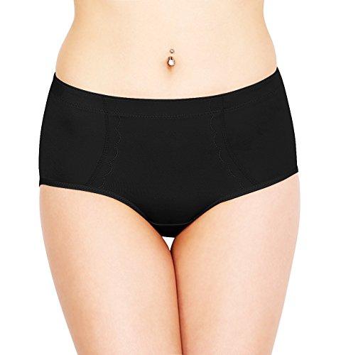 SODACODA Push Up Unterhose mit Silikon Einlagen für den Po (S-XXL) in schwarz und beige - Formt einen perfekten runden Knackpo!! (Schwarz, L) 360g (Ie 400 Natürliches)