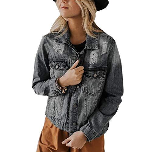 Nyuiuo Damen Übergangsjacke Bomberjacke Pullover Tops Bluse T-Shirt Damen Freizeitjacke Outwear Jeans Mantel Frauen Klassisch Langarm...