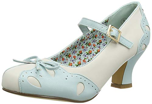 Joe Browns Tea and Cakes Vintage Shoes, Zapatos Planos Mary Jane para Mujer, Agua, 38 EU
