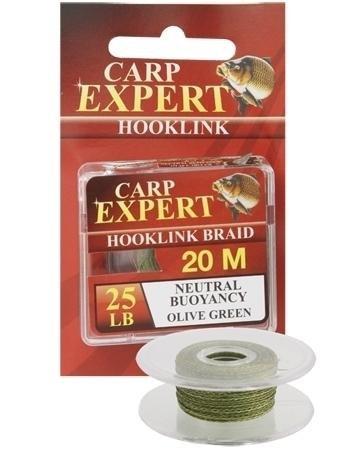 Carp Expert Hooklink Braid Neutral Buoyancy 20m 25lb Olive Green Vorfachschnur Schnur Angelschnur Karpfenvorfach