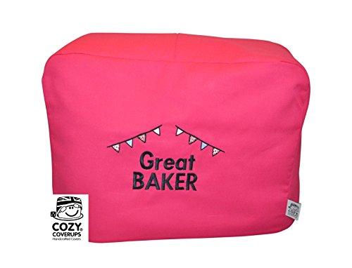 CozyCoverUp® Staubschutz für Küchenhelfer 4,8 l 5QT Artisan Hot Pink bestickt Great Baker