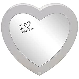 Armoire pour Bijoux Coeur avec un Miroir en Bois