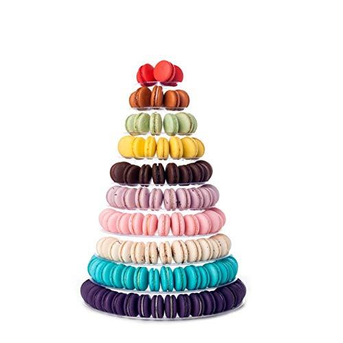 hefeibiaoduanjia 10 Etagen, für Hochzeit, Geburtstag, Party, Kunststoff, für Macaron, Cupcake-Tower, 10 Etagen, Hochzeit, Geburtstag, Party, Kunststoff multi