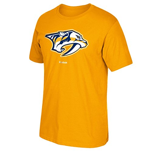 Nashville Predators Reebok NHL Men's Primary Logo T-Shirt Chemise - Gold