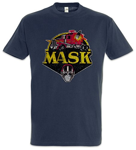 MASK Vintage Logo T-Shirt - Cartoon Kult TV Series Retro 80s Mask T-Shirt Größen S - 5XL (L)