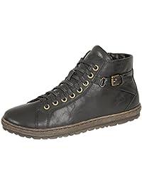 Boulevard XXX amplia ajuste Velcro Bar Slip On Zapatos, color negro, talla 36 EU Señoras