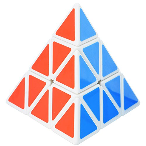 Maomaoyu Pyraminx pirámide triángulo Cubo Magico blanco